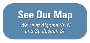 See Our Map - We're at Algoma St. N and St. Joseph St.