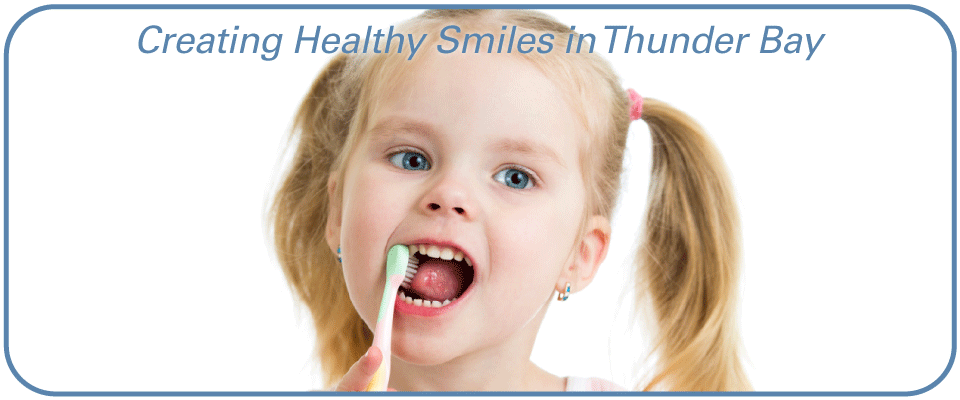 Creating Healthy Smiles in Thunder Bay - Girl Brushing Teeth